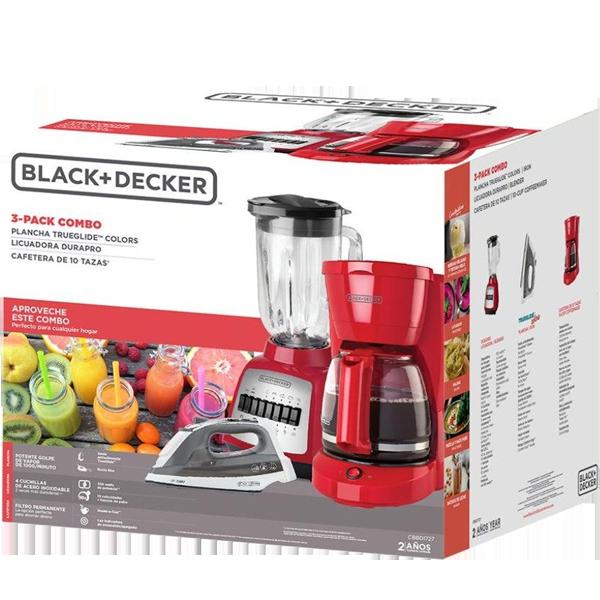 Combo 3 Licuadora Coffee Maker y Plancha B&D